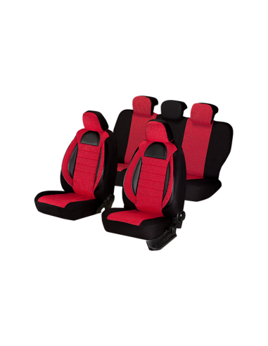 Set huse scaun racing rosu-negru