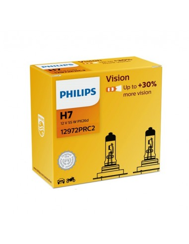 Set becuri H7 12V 55W +30% Philips...